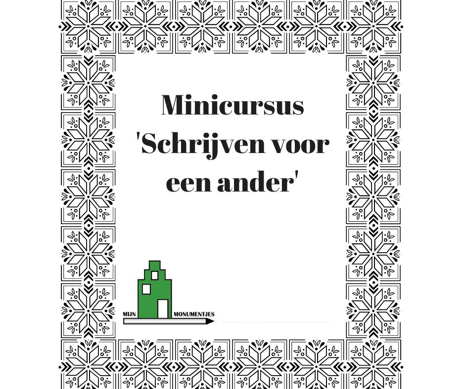 Minicursus Schrijven voor een ander
